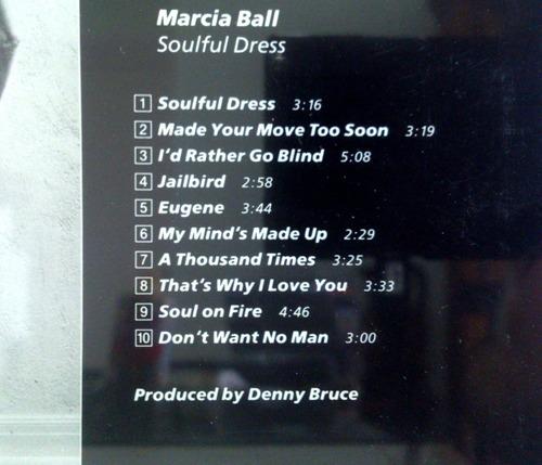 cd marcia ball - soulful dress  1989  importado canada