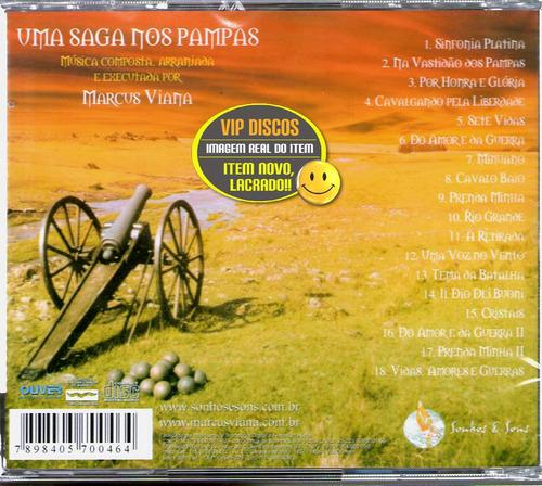 cd marcus viana sete vidas amores e guerras - novo lacrado!!