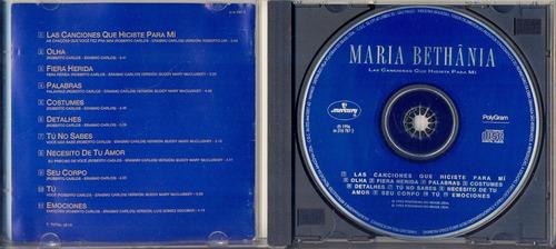 cd maria bethânia - las canciones que hiciste para mi - 1993