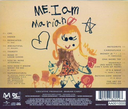 cd mariah carey me i am the elusive deluxe 1ª tiragem lacrad