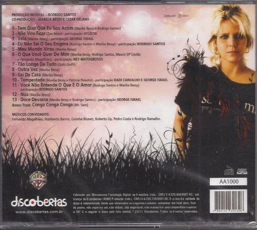 cd marília bessy - doce devassa (com músicos barão vermelho)