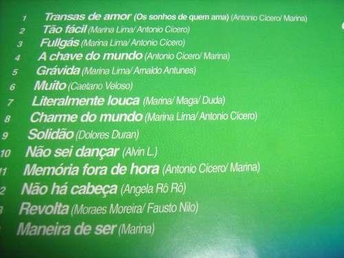cd  marina lima enciclopedia musical brasileira