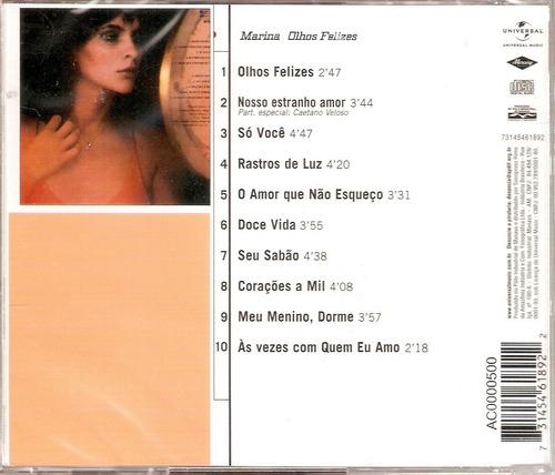 cd marina lima - olhos felizes (1980) edição remasterizada
