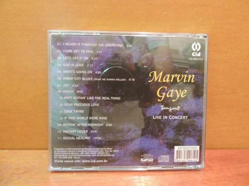 cd marvin gaye live in concert