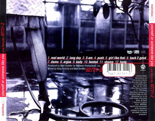 cd matchbox 20 - yourself or someone like you