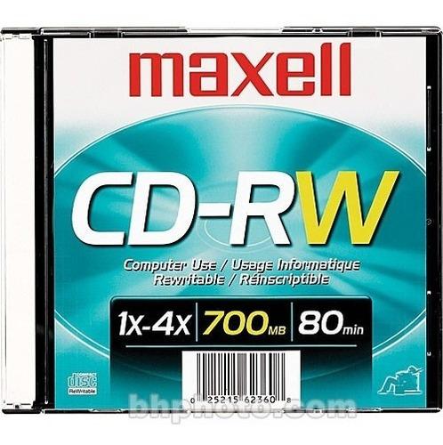 cd maxell cd-rw 700mb 80min virgen regrabable reescribible