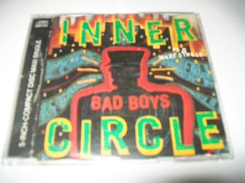 cd maxi single alemão raríssimo inner circle - bad boys