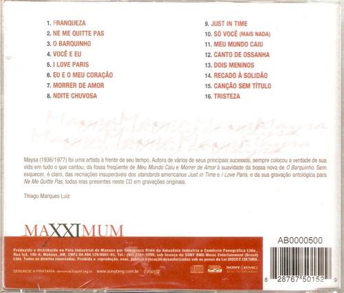 cd maysa - maxximum - novo***