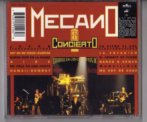 cd mecano en concierto como nuevo nunca usado pop español