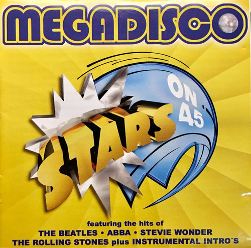 cd megadisco stars on 45 the beatles abba stevie wonder