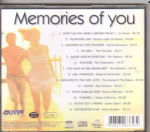 cd memories of you, james taylor e outros, original