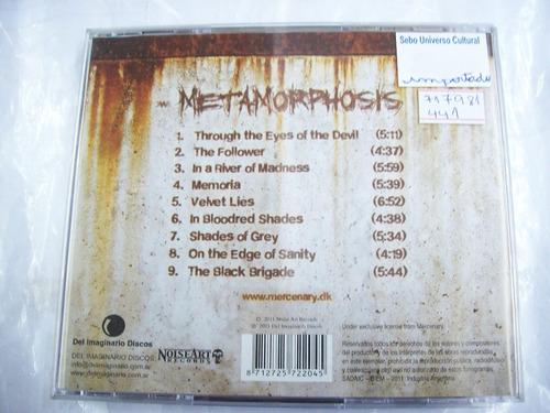 cd mercenary - metamorphosis - importado