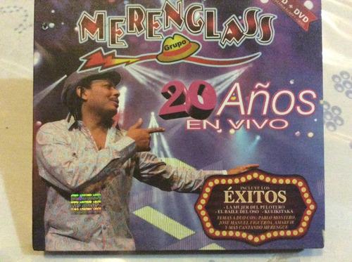 cd merenglass grupo 20 años en vivo cd+dvd