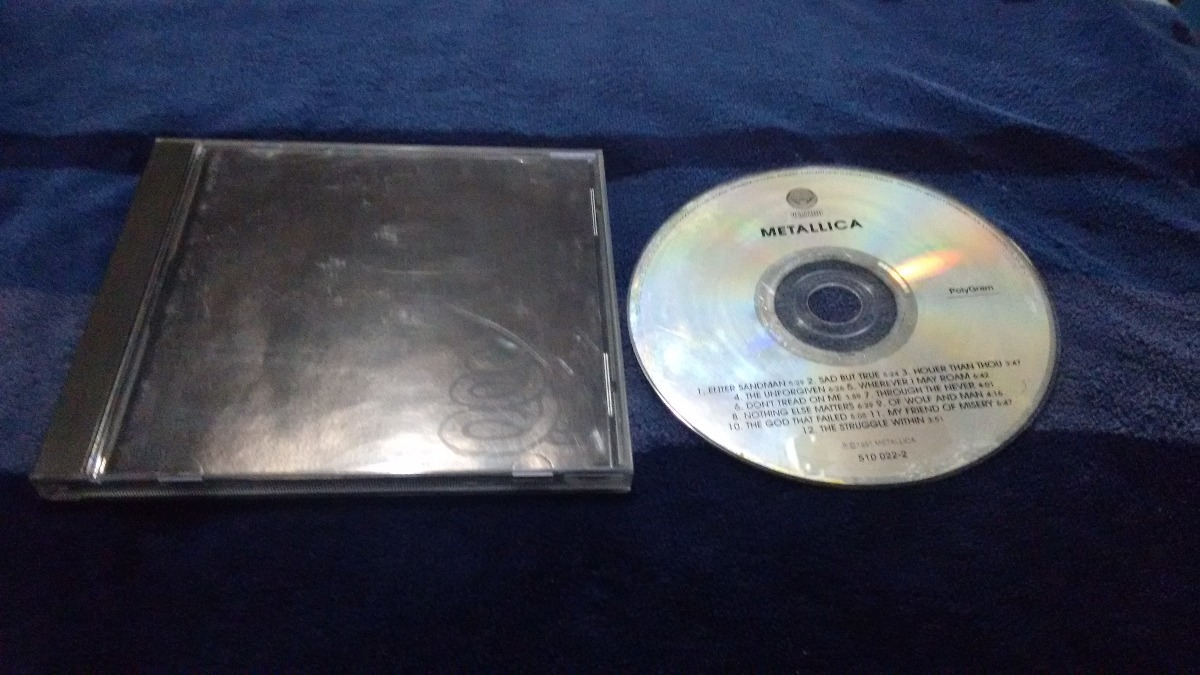 cd metallica album negro portada y contraport imp formato cd