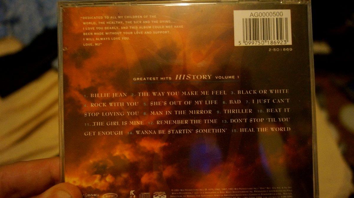 Cd Michael Jackson Greatest Hits History Volume 1