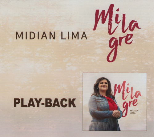 cd midian lima play back - milagre ( lançamento ) 2017- novo
