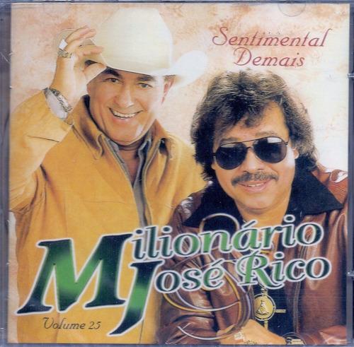 cd - milionario & jose rico - sentimental demais - volume 25
