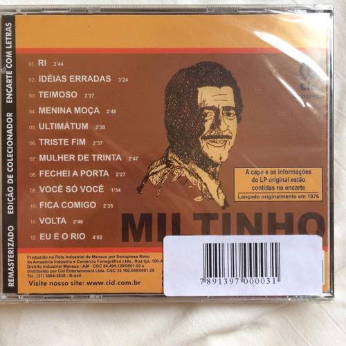 cd miltinho ( edição de colecionador ) hbs