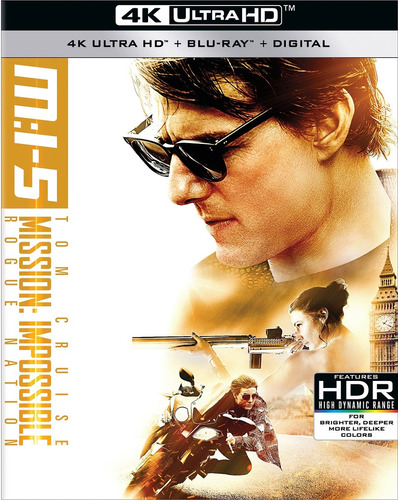 cd : mission: impossible: rogue nation (with blu-ray, 4k...