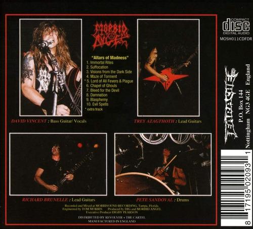 cd : morbid angel - altars of madness (digipack packaging)