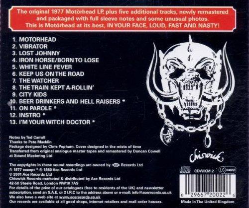 cd : motorhead - motorhead: remastered (united kingdom -...