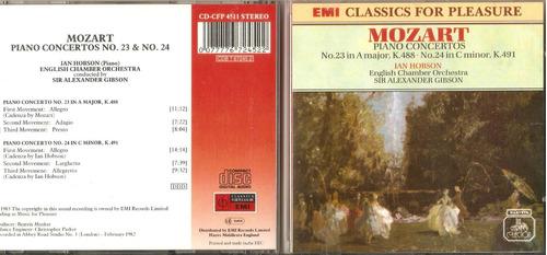 cd mozart piano concertos ian jobson sir alexander gibson
