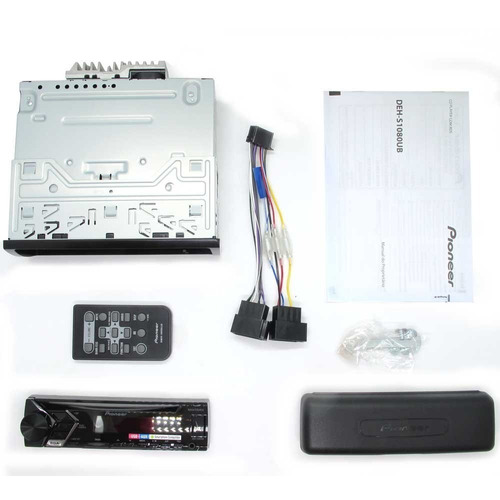 cd / mp3 player mixtrax pioneer deh-s1080ub c/ entrada usb