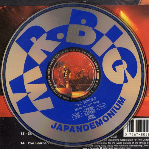 cd mr. big japandemonium