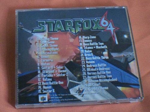 cd musical banda sonora de starfox de n64.