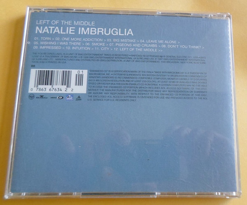 cd natalie imbruglia - left of the middle.