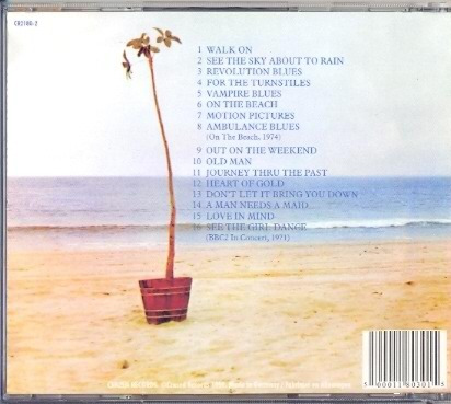 cd neil young - on the beach, 1974 + bbc2 in concert, 1971