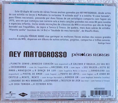 cd ney matogrosso pérolas raras (2008) lacrado original raro