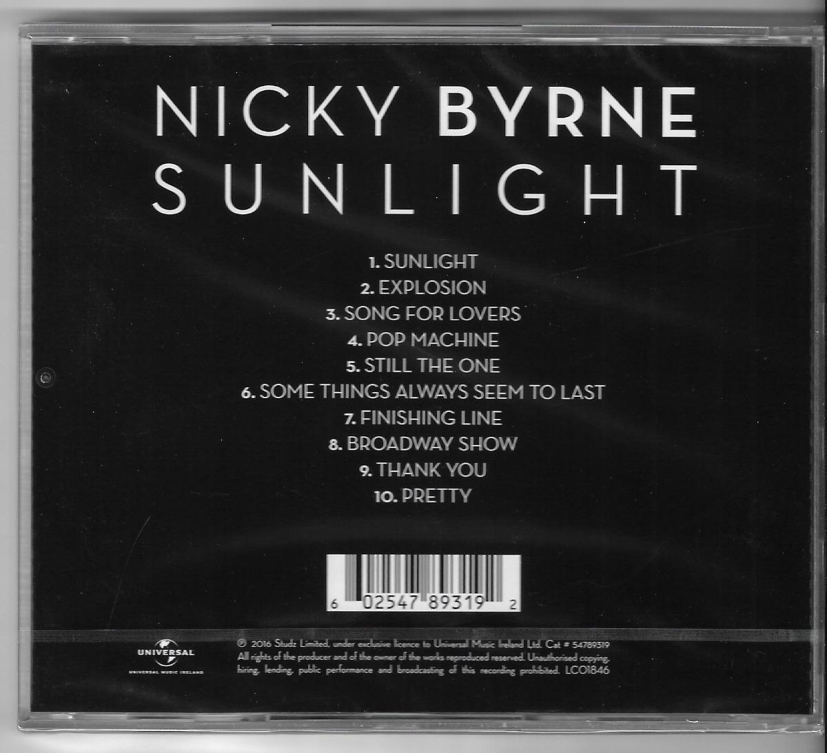 Cd Nicky Byrne - Sunlight [pronta Entrega - Westlife]