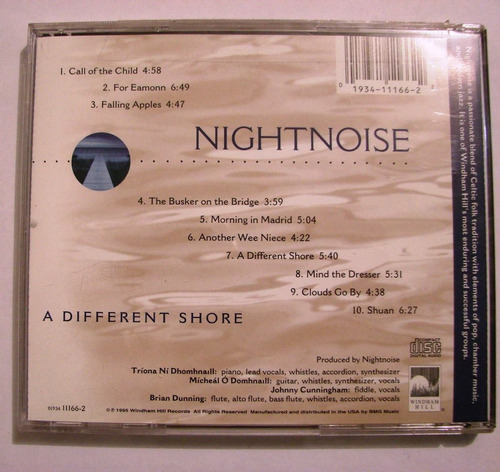 cd nightnoise - a different shore (1995)