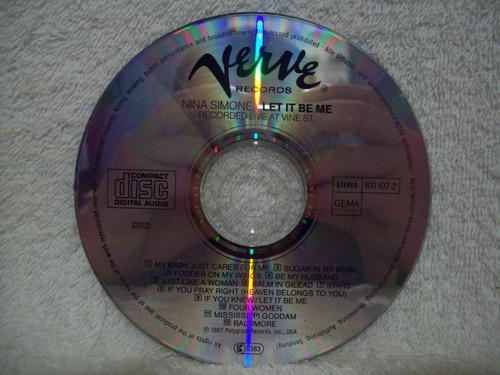cd nina simone- let it be me- importado