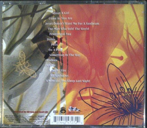 cd - nirvana - mtv unplugged - in new york - original