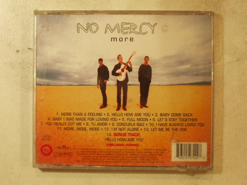 cd no mercy more año 1998 more than a feeling hello how are
