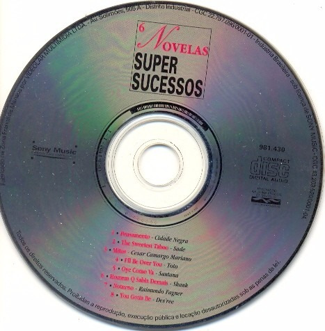 cd novelas super sucessos somente o cd