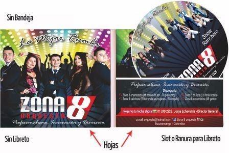 cd o dvd  sobre 3 caras impresion - grabación x 100 unidades