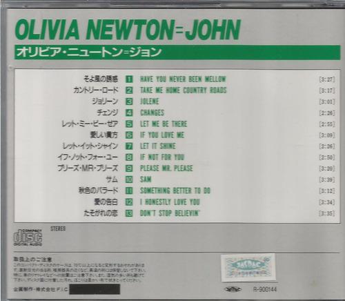 cd olivia newton john - best of (usado/otimo)