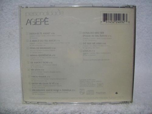 cd original agepê- personalidade