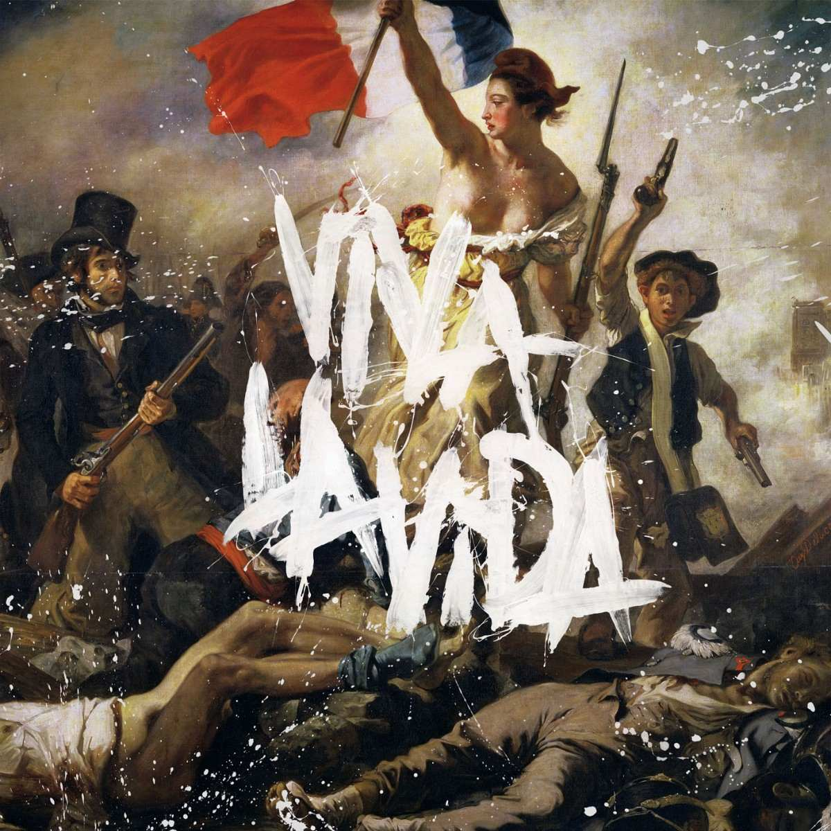 Liberty Leading The People, Cover of album Viva la Vida or Death and All His Friends by Coldplay, 2008. Design by Coldplay and Tappin Gofton