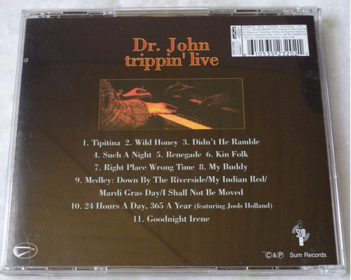 cd original dr john trippin' live