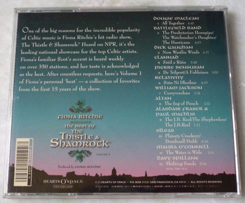 cd original fiona ritchie the best of thistle shamrock