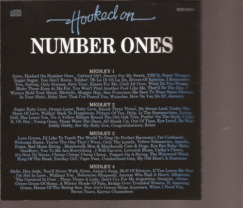 cd original  hooked on number ones