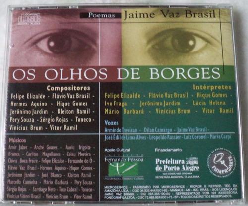 cd original jaime vaz brasil os olhos de borges