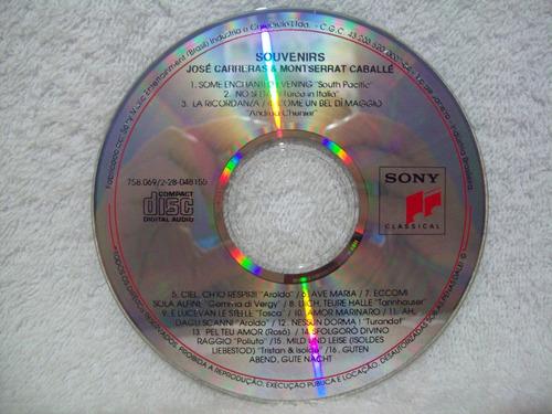 cd original josé carreras & montserrat caballé- souvenirs