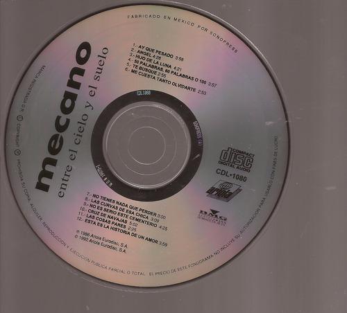 cd original mecano  entre el cielo y el suelo