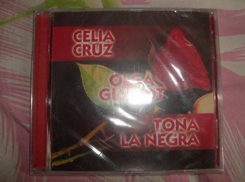 cd original nuevo de celia cruz,olga guillot,toña la  negra