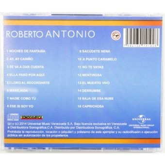 cd original nuevo de roberto antonio serie premium